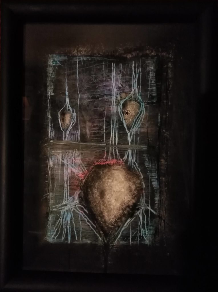 Obraz 20x30cm, kombinovaná technika, Bez názvu, 2018