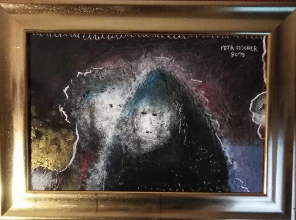 Obraz 20x30cm, kombinovaná technika, Návrat, 2019
