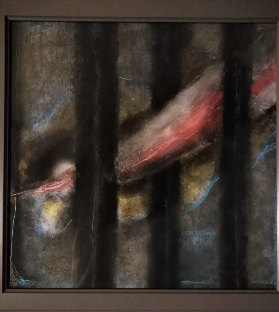 Obraz 40x40cm, kombinovaná technika,Bez názvu, 2019