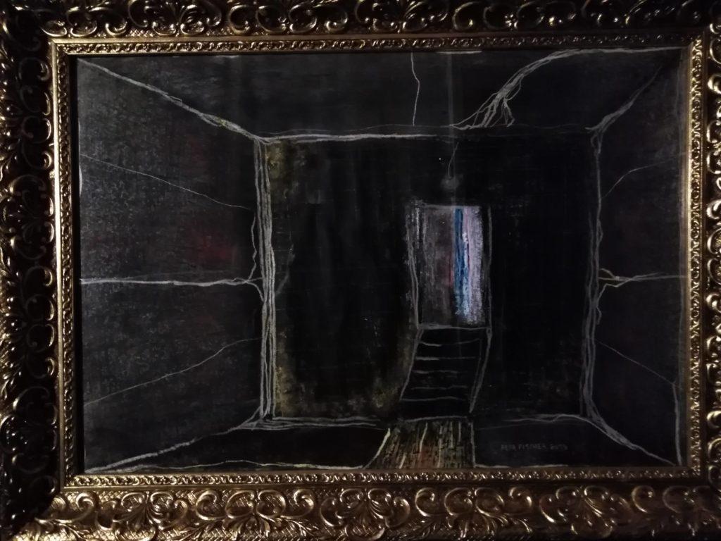 Obraz 45x65cm, kombinovaná technika, Bez názvu, 2019