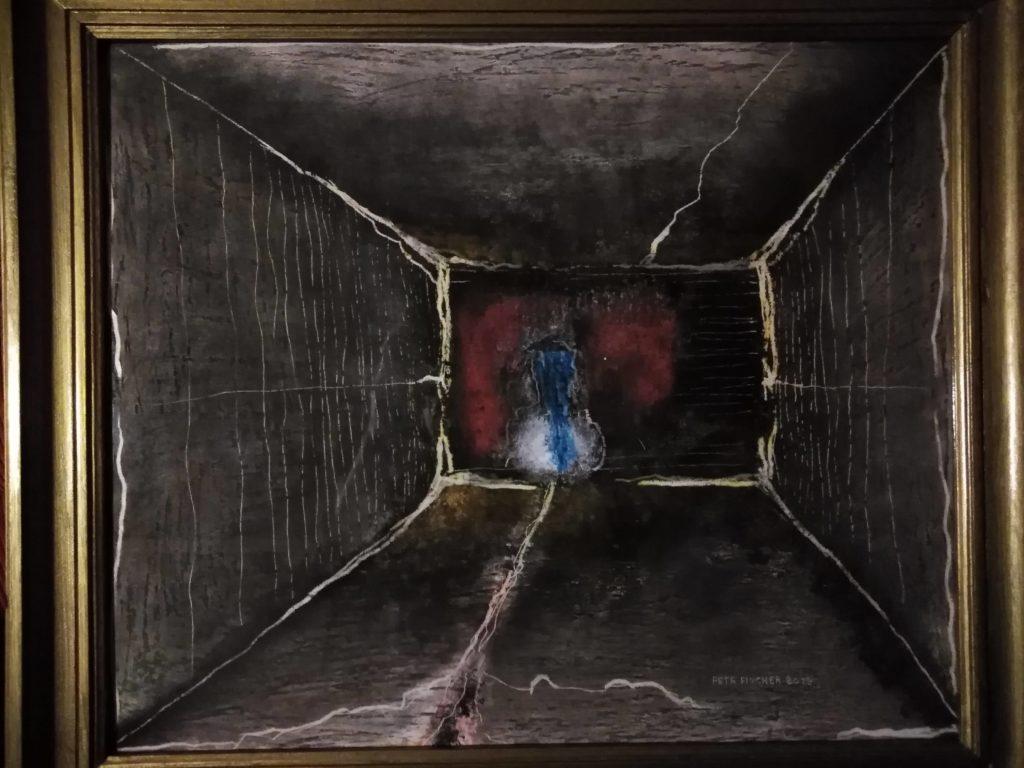 Obraz 60x50cm, kombinovaná technika, Bez názvu, 2019
