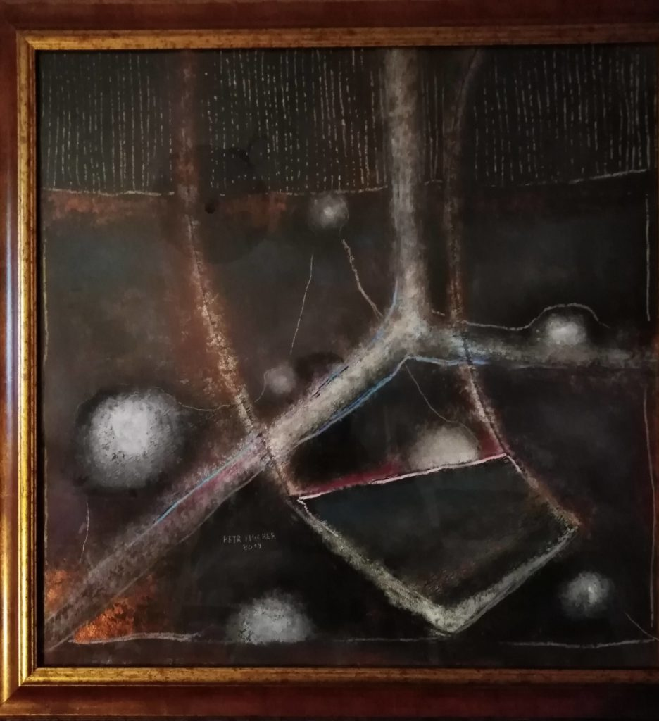 Obraz 70x70cm, kombinovaná technika, Bez Názvu, 2019