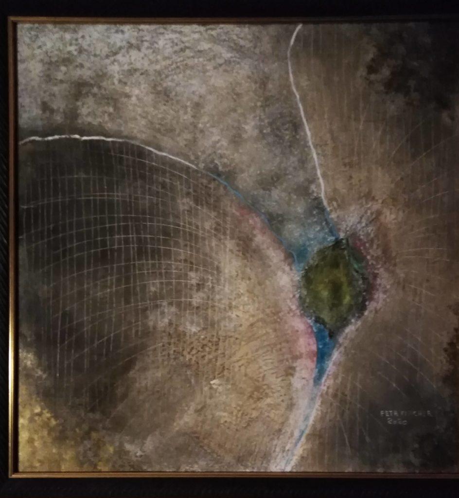 Obraz 60x60cm,kombinovaná technika,Bez názvu,2020